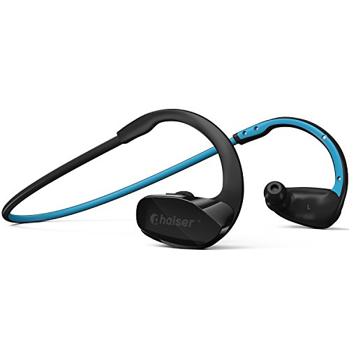 Phaiser BHS-530 Bluetooth Headphones Runner Headset Sport Earphones with Mic and Lifetime Sweatproof Warranty - Wireless Earbuds for Running, Oceanblue