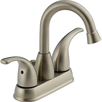 Peerless P99694lf Bn Apex Two Handle Centerset Bathroom Faucet Brushed Nickel Touch