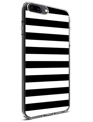 iPhone 8 Plus/iPhone 7 Plus Case [Drop Protection][Slim Fit] - for Apple iPhone 8 Plus/iPhone 7 Plus 5.5 Inch Black and White Pattern