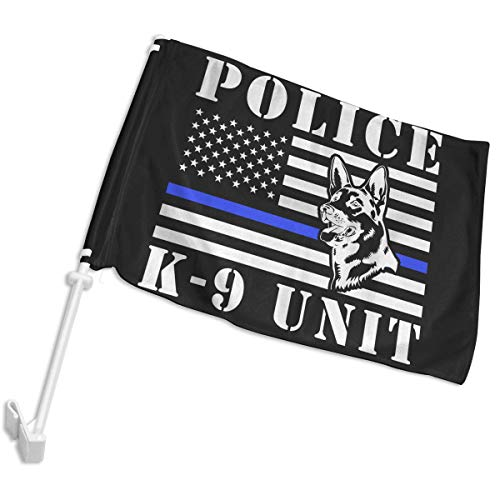 K9 Unit Car Window Flags Party Flags Yard Flags with Bracket