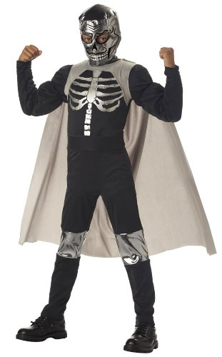 [El Muerto Luchadore Boys Costume - Child Size 8-10] (Childrens Nacho Libre Costume)