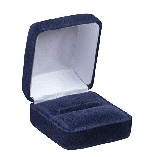 Allure Echelon Ring Box, Navy Blue