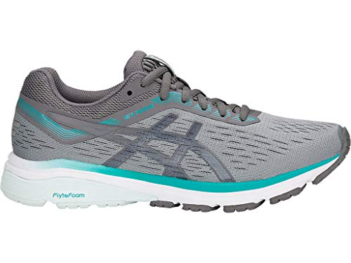 ASICS Women's GT-1000 7 Running Shoes, 7.5M, Stone Grey/Carbon