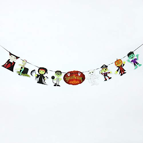 Bubble-Princess - Halloween Flag Decoration Spider Web Pumpkin,Doll,Color Letter,Swallowtail Bunting Banners Halloween Party -