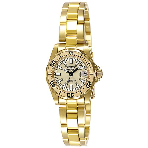 Invicta Women's 7065 Signature Collection Pro Diver Gold-Tone Watch