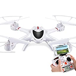 Rabing RC Drone FPV VR Wifi RC Quadcopter 2.4GHz 6-Axis Gyro Remote Control Drone with 0.3MP HD C4015 Camera Drone