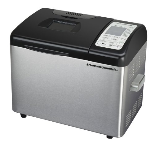 Breadman TR2500BC Ultimate Plus 2-Pound Convection Breadmaker, Stainless-Steel by Breadman