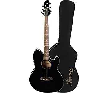 ibanez talman tcy10 acoustic electric guitar in black with ibanez tm50c talman. Black Bedroom Furniture Sets. Home Design Ideas