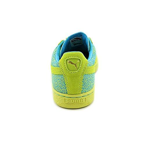 Classica Sneaker Da Donna In Suede Color Puma, Blu Primavera Zolfo, 9 M Us
