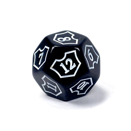 Premium MTG D12 Spin-Down Loyalty Counter Die Black by Hedral – Magic: The Gathering TCG CCG Planeswalker