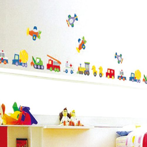Removable Wall Stickers Boys Room Cars Planes Trains Amazon Part 58