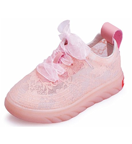 PENGKE Kids Running Sport Shoes Comfortable Athletic Sneakers Casual Trainers for Girls Pink (Girls Trainers Childrens)