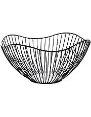 Fruktkorg svart metall, brödkorg fruktskål metall korg skål dekoration förvaring för grönsaker, snacks och bröd (svart)