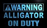 Warning Alligator On Duty LED Sign Neon Light Sign Display m864-b(c)