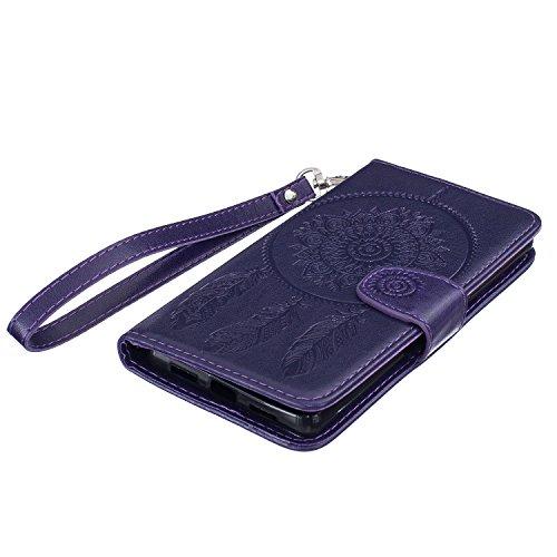 COZY HUT - Zapatillas de estar por casa para mujer azul turquesa Huawei Honor 7 morado