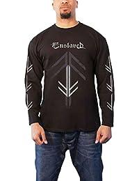 T Shirt Rune Cross Band Logo Official Mens Black Long Sleeve
