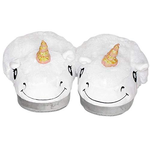 Pantoufles Blanc Peluche Coton Chaussures Cadeaux EU35 Pantoufles 43 Chaussures Licorne Nouveauté Enfant Chaussons Noël Adulte Hiver Pantoufles Femme Festival Leisu Animal Eqn0tRZxt