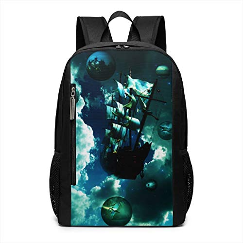 Sailing Dreams Fantasy Fly Repellent School Travel Backpack Casual Daypack For Business/College/Women/Men