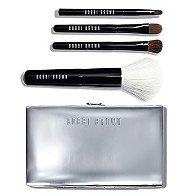 Bobbi Brown Mini Brush 4 Pcs Set W/ Silver Carrying Case