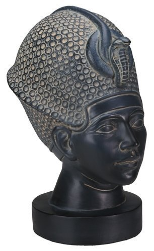 Egyptian King Tut with Blue Crown Statue Display
