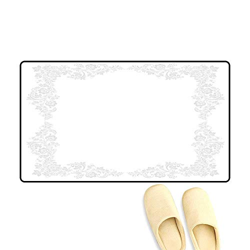 - doormatOrnate Vector Floral Frame in Russian Outdoor Doormat 50x80cm