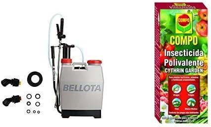 Bellota 3710-12 Pulverizador 12 Litros + Compo Cythrin Garden Insecticida Polivalente, Para Plantas Hortícolas, Arbustos Y Ornamentales, Control De Plagas Más Habituales, 100 Ml