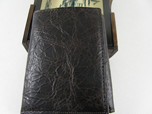 New Men's Wallet Brown Destinie Rolfs Wood with Leather Genuine Box Valet Gift Trifold UOwq7Fgx