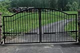 - Mighty Mule Driveway Gate - Double Gate, Biscayne, 16ft.W x 6ft.H, Model# G2716-KIT