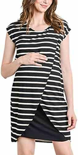 6adfd9c139b03 ZyrunaeL Women's Maternity Asymmetrical Clothing Nursing Breastfeeing Maternity  Nursing Dress