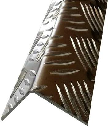 Riffelblechwinkel 1500mm Aluwinkel 100x10 mm Schenkelinnenma/ß aus Alu Riffelblech Quintett 3,5//5,0 mm stark Winkel Alu,L-Profil,