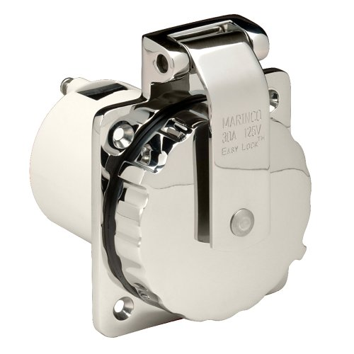 - Marinco 303SSEL-B 30A Power Inlet - Stainless Steel - 125V