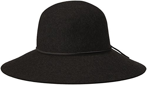 Phenix Cashmere Women's Round Crown Wool Felt Floppy Hat, Black, One Size
