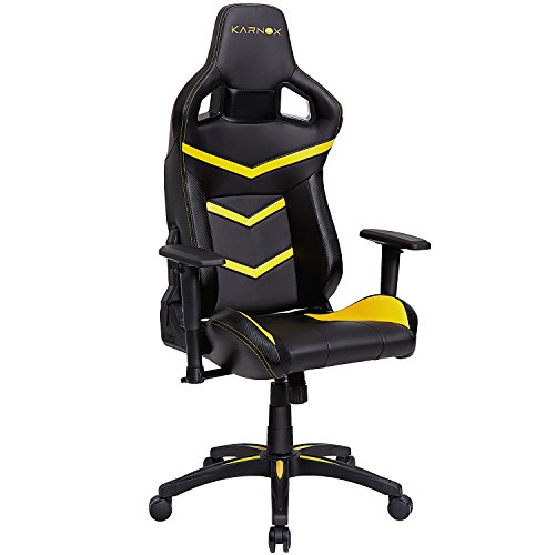 Karnox Legend Be Yellow Black Racing Style Gaming Office