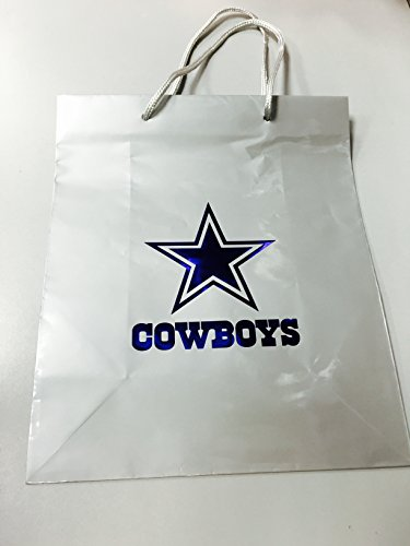 (Pro Specialties Group NFL Dallas Cowboys Gift Bag, Silver/Navy, One)