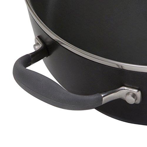 Anolon Advanced Hard-Anodized Nonstick Covered Chef's Casserole, 3.5 quart, Gray