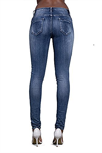 LustyChic With Jeans Blue mujer Vaqueros Camouflage para Lace Rips qpzqr