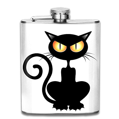 Happy Halloween Cat Fashion 7 Oz Stainless Steel Classical Flagon Portable Hip Flask