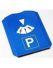 AM/63 1 x parkeerschijf met ijskrabber, blauw, 11,8 x 15,5 cm, van kunststof