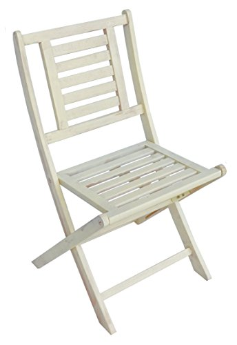 Zen Garden Wood Foldable Patio Bistro Chair, Set of 2 Chairs, 20.5
