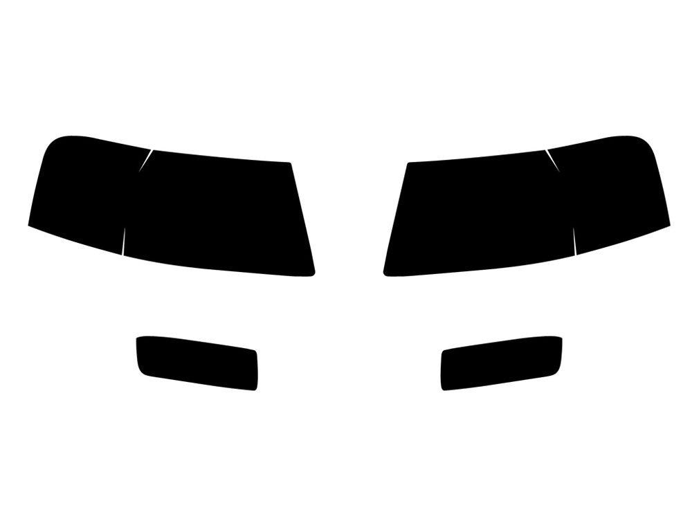 Rtint Headlight Tint Precut Smoked Film Covers for Ford Explorer 2006-2010