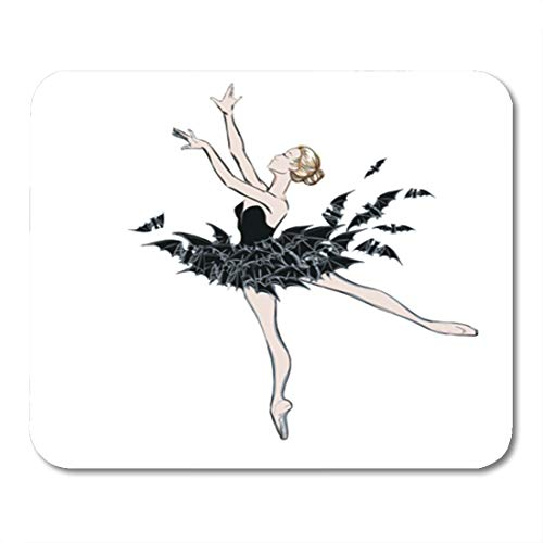 Semtomn Gaming Mouse Pad The Portrait of Ballerina in Fantasy Dress Bats Ballet Dancer 9.5