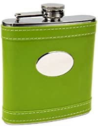 Win 6oz Lime Green Customized Flask, Free Personalization! compare