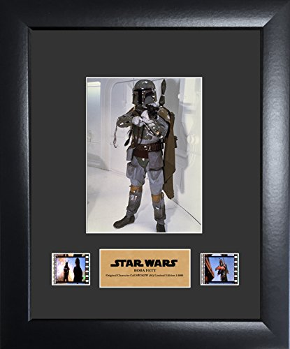 Limited Edition Collectible Movie Plaque - FilmCells Star Wars: Boba Fett Film Cell Framed Art Display (Limited Edition with Backlight)