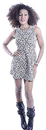 Clickonstyle Sheath Dress For Women - S, Black And White