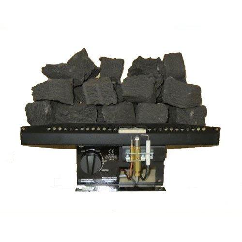 Coals 4 You Fiamma a Gas R1 Rettangolare, 40,6 cm, Effetto Carbone, Prodotto nel Regno Unito, 40,6 cm