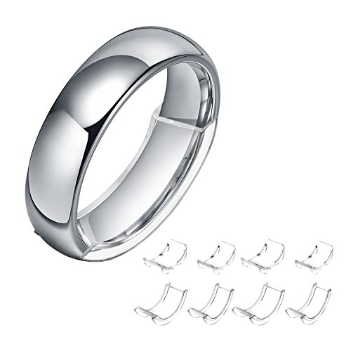 Invisible Ring Size Adjuster for Loose Rings Ring Adjuster Fit Mens Rings with Jewelry Polishing Cloth (Mens Transparent Ring)