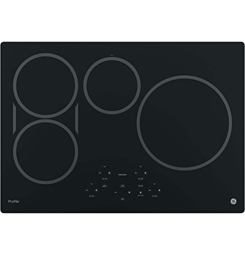 "GE Profile Series 30"" Built-In Electric Induction Cooktop Black-on-Black PHP9030DJBB"