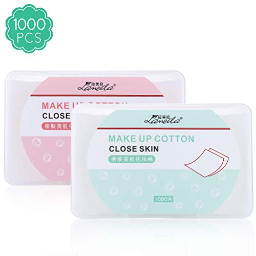 l Cotton pads, nail polish remover pads, lint free Nail Wipes facial eye make up wipes, square cosmetic cotton pads, Non-woven cotton Makeup Remover, Random Color ()