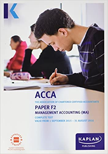 ACCA - F2 Management Accounting: Study Text