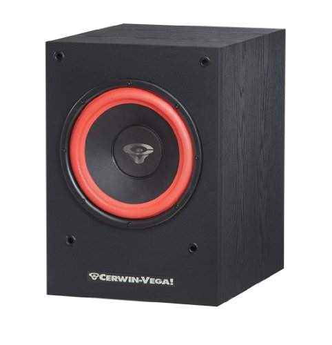 "Cerwin Vega SL Series 10"" 212W Powered Subwoofer Black CWV SL10SNA"